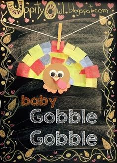 """These craft packs are designed to save you time because all of the prep work is done for you. This listing is to purchase individual """"Baby Gobble Gobble"""" craft kits. www.uppityowl.blogspot.com"""