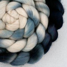 Hand Dyed Merino Cashmere Top 4.25oz by jilldrapermakesstuff