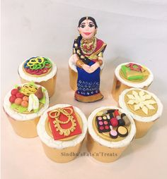 Cupcakes for halfsaree function of girl