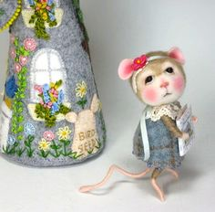 Dressed Mouse/Bunny Class Needle Felted Animal Class / Create BOTH the Bunny and Mouse (Kit Available and sold separately) by barby303 on Etsy https://www.etsy.com/listing/159211857/dressed-mousebunny-class-needle-felted