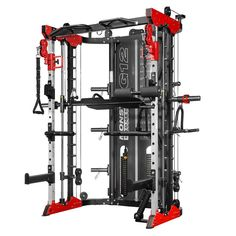 Force USA Black Friday Monster All-In-One Commercial Strength Training Machine - Red. Commercial Fitness Equipment, Home Gym Equipment, No Equipment Workout, Home Gym Garage, Gym Room At Home, Pilates Studio, Pilates Reformer, Home Multi Gym, Pull Up Station