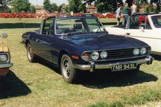 Seen attending the 1996 Luton Festival of Transport, at Stockwood Park, is this splendid Triumph Stag dating from Two's Company, Commercial Vehicle, Nice Cars, Vintage Cars, Motors, Classic Cars, British, Seen, Vehicles