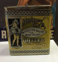 MONTANA CLUB High grade COFFEE tin Butte Silver Bow county COUNTRY STORE can WOW