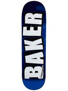 Baker Brand Logo Blue Deck x Beginner Skateboard, Skateboard Deck Art, Skateboard Design, Baker Skateboards, Skate Decks, Skates, Kakashi, Paint Ideas, Skateboarding