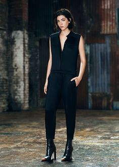 jumpsuit that can be dressed up or down ALLSAINTS: Women's lookbook 2014 August