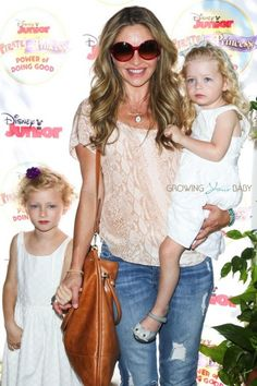 """Rebecca Gayheart and daughters Billie & Georgia at Disney Junior's """"Pirate and Princess Power of Doing Good"""" tour Rebecca Gayheart, Princess Of Power, Disney Junior, Pirates, Georgia, Tours, Celebrities, Daughters, Lace"""
