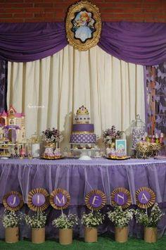 mesas decoradas de princesa sofia cumpleanos