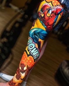 Browse tattoo ideas in all styles from tribal, Japanese, watercolor and more. Get inspired for your next tattoo. Marvel Tattoos, Spiderman Tattoo, Anime Tattoos, Body Art Tattoos, Hand Tattoos, Sleeve Tattoos, Leg Tattoo Men, Big Tattoo, Mangas Tattoo