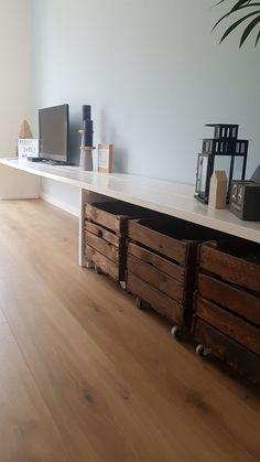 Wit hoogglans tv-meubel