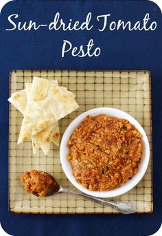 (via Sun-dried Tomato Pesto -)   #healthy #vegetarian #vegan #recipes Find more healthy recipes @ http://standouthealth.com