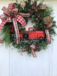 Christmas Wreaths Woodland Christmas Wreath Rustic Christmas Farmhouse Christmas, Natural Christmas Decorations