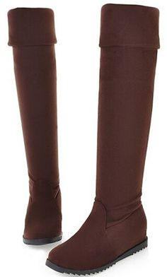 2015 women autumn winter over-the-knee boots flat heel platform cotton-padded shoes