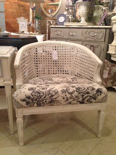Chinoiserie caned chair...SOLD