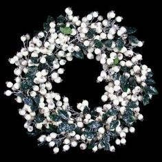 Casafina - Large Glitter Berry and Leaf Wreath