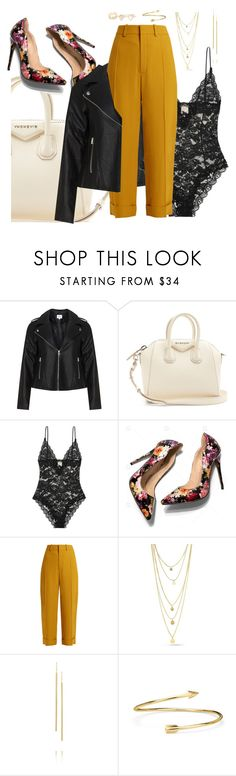 """""""Alternative."""" by bees-and-flowers ❤ liked on Polyvore featuring Zizzi, Givenchy, Yves Saint Laurent, Chloé, Jennifer Meyer Jewelry, Blue Nile and With Love From CA"""