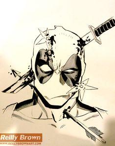 Deadpool by ReillyBrown.deviantart.com on @DeviantArt