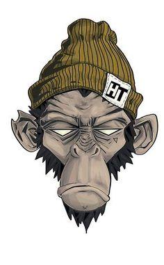 & # Head threads & # Monkey illustration by Jessie Orgee - Grafiti. Graffiti Art, Arte Dope, Dope Art, Cartoon Kunst, Cartoon Art, Cartoon Monkey Drawing, Zombie Cartoon, Dope Kunst, Monkey Illustration