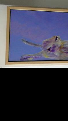 Hand painted purple hare art for your bedroom on an A4 deep box canvas that is ready to hang, or add an optional FSC-certified light wood frame. Take a closer look below or pin for later Farm Animals, Animals And Pets, Artwork Online, Animal Paintings, Hare, Mammals, Closer, Canvas Wall Art, Wildlife
