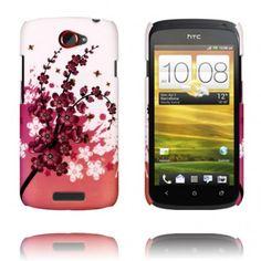 Valentine (Rosa Blommande Gren) HTC One S-Skal
