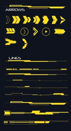 Buy Hi-tech Lines and Arrows Set by anchor_point_heshan on GraphicRiver. 10 Hi-Tech Lines and Arrows set This file contains 14 Hi-Tech Arrow shapes and 9 Lines shapes, you can use these shap.