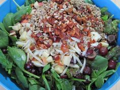 'The Salad'.  This is usually at our Thanksgiving as well.  It makes a ton, so I bring it to potlucks a lot.