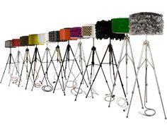 Rewashlamp, una collezione di lampade create con materiali di riciclo: la struttura è realizzata con un cestello da lavatrice e un cavalletto fotografico. www.designstreet.it