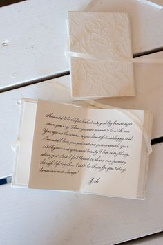 Vow Book by Deborah Nadel Design ~