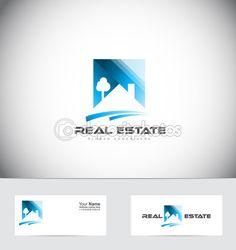 Design de logotipo de telhado de casa imobiliária — Ilustração de Stock…
