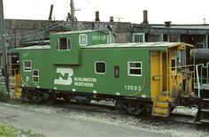 Burlington Northern green and yellow.