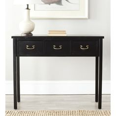 """Safavieh Cindy Black Console Table 