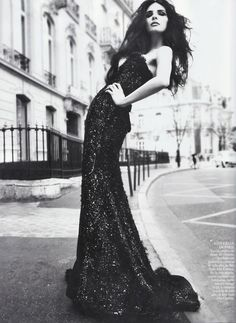 Bojana Panic in Elie Saab Spring 2011 Couture for Vogue May 2011