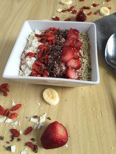 Strawberry Flax Smoothie Bowl