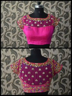 design with images of both front and back neck. These blouse patterns work with a variety of different sarees which you can flaunt at different special occasions with styling tweaks. Latest saree blouse designs front and back Netted Blouse Designs, Pattu Saree Blouse Designs, Latest Saree Blouse, Fancy Blouse Designs, Bridal Blouse Designs, Lehenga Blouse, Anarkali Dress, Pakistani Dresses, Lehenga Choli