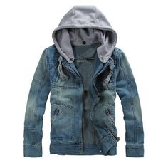 Fubotevic Mens Lapel Fleece Lined Plus Size Loose Thermal Rugged Denim Jacket Quilted Coat Outerwear