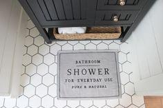 hex tile, modern farmhouse bathroom