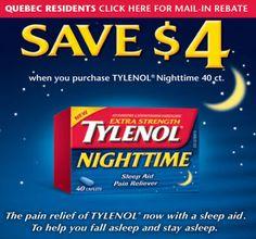 Canada Coupon: $4 Off Tyelnol Nighttime!