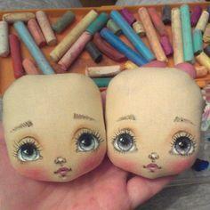 Мордашки . . #куклымаринызагребиной #росписькуклы #процессработы