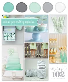 Mint and Gray wedding :)