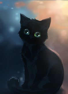 Čierna mačička Tumblr