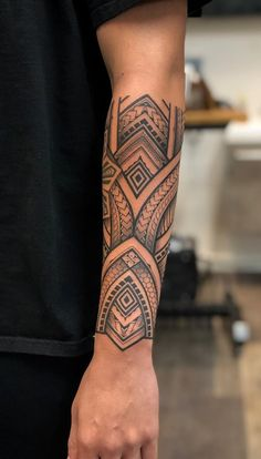 Good session on Myles today. Starting off his full sleeve. Thank you brotha 🙏 Polynesian Forearm Tattoo, Maori Tattoo Arm, Tribal Forearm Tattoos, Cuff Tattoo, Polynesian Tattoo Designs, Tribal Tattoos For Men, Maori Tattoo Designs, Tribal Sleeve Tattoos, Arm Tattoos For Guys