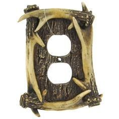 Matches the light switch cover and would be a great accent to Bray's hunting room.