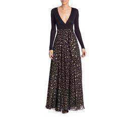 Diane von Furstenberg Aviva Wrap Maxi Dress ($399) ❤ liked on Polyvore featuring dresses, long-sleeve floral dresses, floral wrap dress, long sleeve wrap dress, floral skater skirt and long sleeve dress