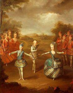 Johann Georg Weickert - Marie Antoinette and Family Dancing