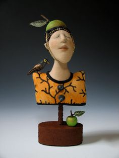 Bust with Green Fruit copyright 2010 Akira Studios all rights reserved