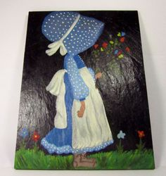 Hand Painted Slate Painting Country Decor by ShayesChicDecorNMore, $47.00