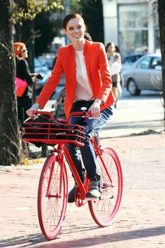 Celebrity Bike Style: Coco Rocha