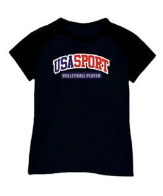 Women Raglan T-Shirt Usa Sport Volleyball Player Usa Volleyball, Volleyball Players, Usa Sports, Tees For Women, Raglan Tee, Funny Design, Mens Tops, T Shirt, Training