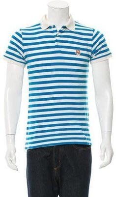 MAISON KITSUNÉ Striped Polo Shirt