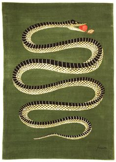 'Snake with apple in its mouth' - a rug! in Elle Decor magazine. It's produced by Roubini Rugs and is a Piero Fornasetti design. Gravure Illustration, Illustration Art, Year Of The Snake, Piero Fornasetti, Elle Decor, Oeuvre D'art, Rugs On Carpet, Design Trends, Design Inspiration