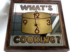 Whats Cooking Clock Numbers Time Bakeware by UncommonRecycables Kitchen Ideas, Kitchen Decor, Clock Numbers, Farmhouse Clocks, Square Kitchen, Clocks Back, Cooking Quotes, Kitchen Wall Clocks, What To Cook